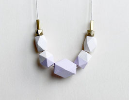 "geometric necklace ""nude lilac"""