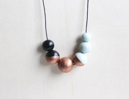 "round necklace ""black-copper"""