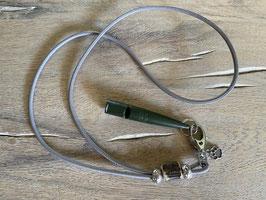 Glattleder silbergrau mit echtem Hirschhorn Klimbim Pfötchen gefüllt Pfeife moos 211.5