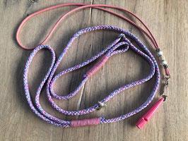 Set: Retrieverleine unicorn Pfeifenband rosa Pfeife rosa 211.5