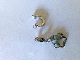 Edelstahlanhänger mit Swarovski Steinen verziehrt kann geöffnet werden mit Edelstahlpfote