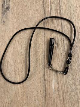 Glattleder schwarz mit schwarzen Beads Pfötchen Bead schwarz Pfeife 211.5 schwarz