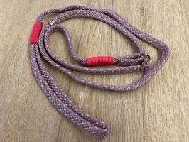 Retrieverleine silbergrau/pink