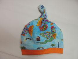 Knoten Mütze Regenbogenfische Erstlingsmütze