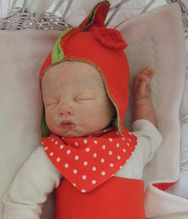 Baby Halstuch rot/weiß getupft