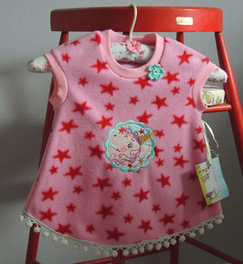 Rosa Fleece Kleid Einhorn