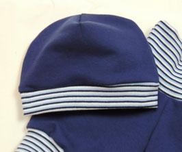 Jersey Mütze  Erstlingsmütze, königsblau