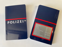 Notizbuch im Polizeidesign