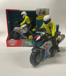 Motorrad mit Fahrer Polizei