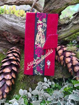 Handyhülle Schwarzwaldstyle universell rot  Borte: rot
