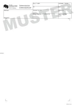 Vermessungsriss der Hochschule Mainz, Format A4