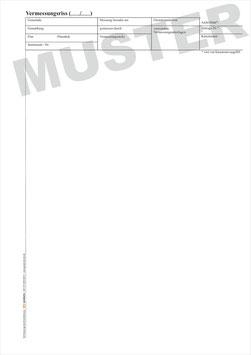 Vermessungsriss Brandenburg, Format A4