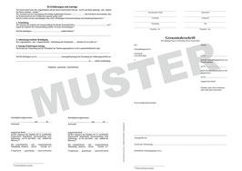 Grenzniederschrift NRW, Version 02,  A3 auf A4 gefaltet