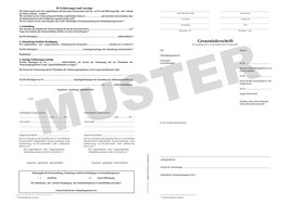 Grenzniederschrift NRW, Version 01,  A3 auf A4 gefaltet