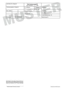 Fortführungsrisse für jeweiliges Bundesland, DIN A4