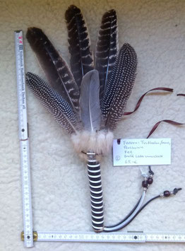 Handgefertigter Federfächer (Räucherfächer) Nummer 2