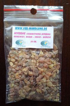 Myrrhe, ca 20 gr. im PP-Beutel
