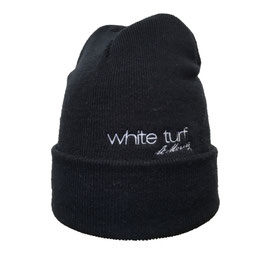 White Turf Knitted Hat Blue