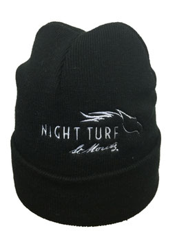 Night Turf Knitted Hat Black