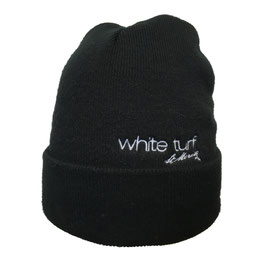 White Turf Knitted Hat Black