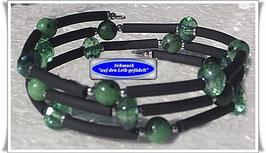 176) Memory Wire-Armband mit Rubin Zoisit