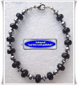100) Onyx-Pyrit-Armband
