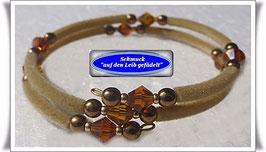 136) braunes Memory Wire-Armband