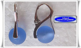 943. blaue Muranoglas-Ohrringe