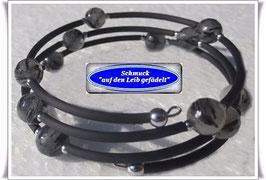 168) Memory Wire-Armband mit Turmalinquarz