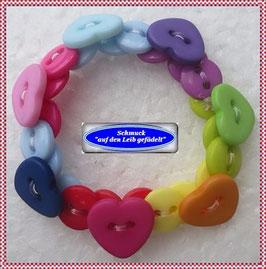 51) Kinderarmband mit bunten Herzchen TS