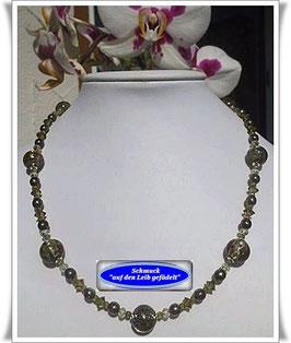1263. Muranoglas-Perlenkette mit echtem Zirkon