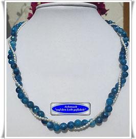 1499. 2-reihiges blaues Achat-Collier