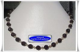 441. braunes Swarovski-Collier