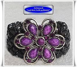 46) Armband mit großem Blüten-Zierknopf