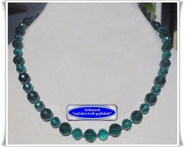 423. smaragdgrüne Kristallglaskette Set