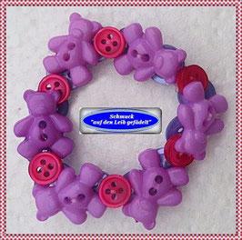 1) Armband aus Teddy-Knöpfen TS