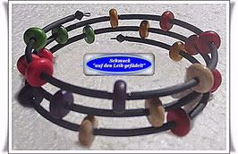 124) Memory Wire-Armbänder mit Türkis-Rondellen TS
