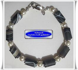 239) Achat-Walzen-Armband