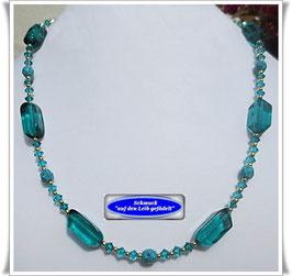 213. edle Muranoglas-Perlenkette