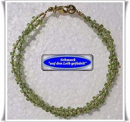 148) 2-reihiges Peridot-Armband