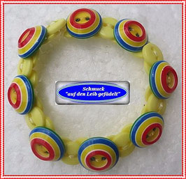 59) buntes Armband aus Knöpfen TS