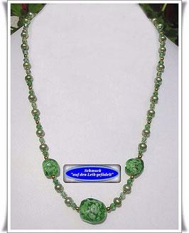 627. Muranoglas-Perlenkette Set