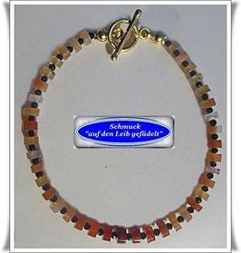245) zierliches Karneol-Spinell-Armband