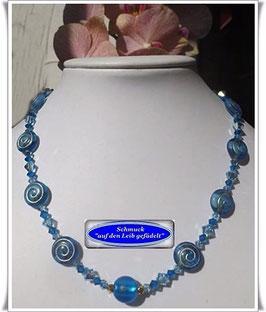 1314. Glasperlenkette mit Muranoglas-Perle