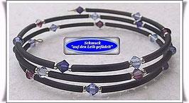 126) Memory Wire-Armbänder mit Kristallglas-Biconen TS
