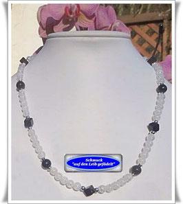 1172. Bergkristall-Onyx-Kette
