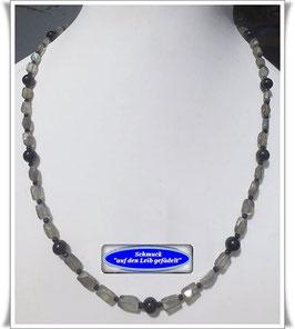 595. zierliche Labradorith-Kette