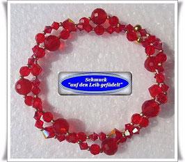 135) 2-reihiges Swarovski-Armband