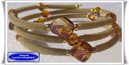 126) Memory Wire-Armband mit Swarovski-Perlen