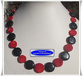 1530. Koralle-Onyx-Spinell-Kette